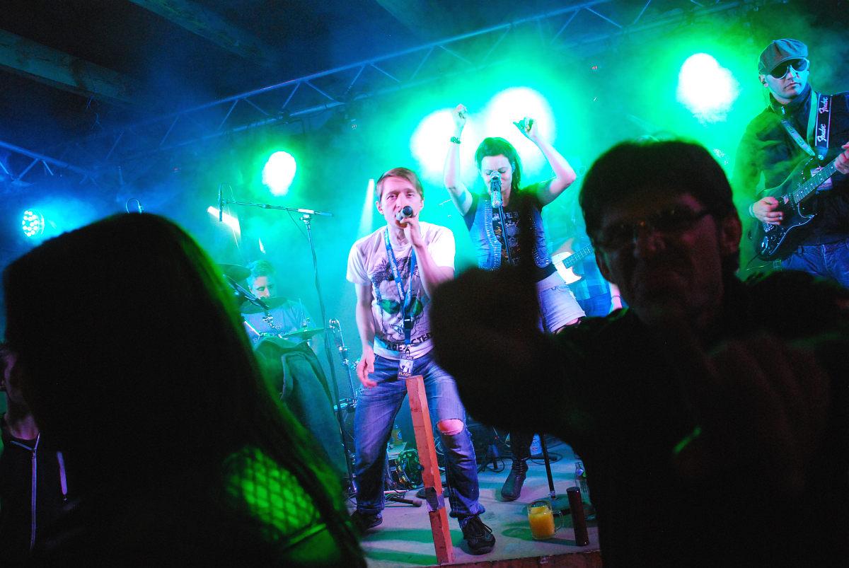 Partyband Flash beim Mühlstadelfest in Steinbach