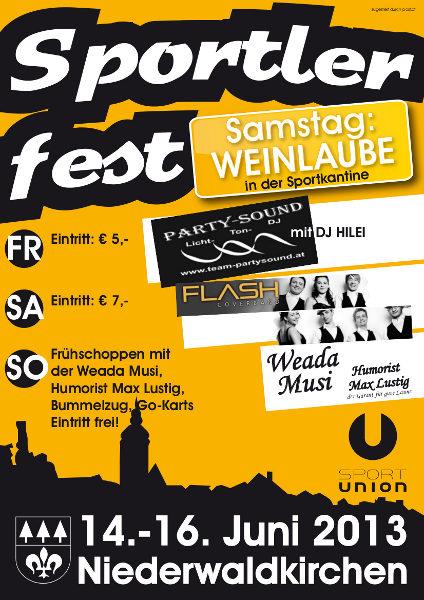 Flyer Sportlerfest Niederwaldkirchen