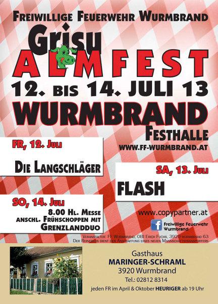 Flyer Hallenfest Wurmbrand
