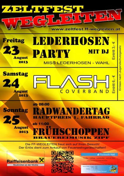 Flyer Zeltfest Wegleiten 2013