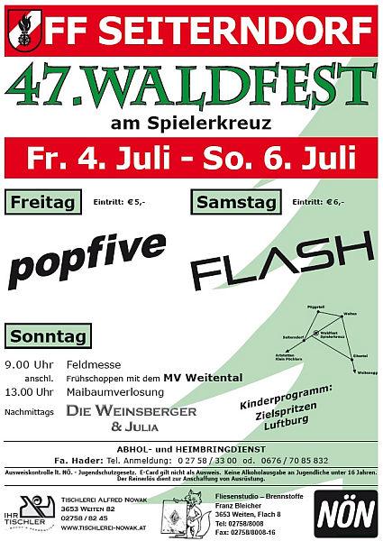 Waldfest Seiterndorf Flyer