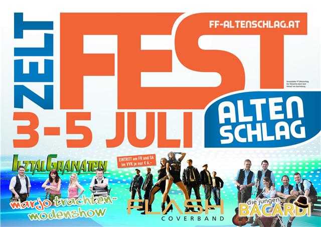 Samstag 4.7.2015: Flash live am Zeltfest Altenschlag
