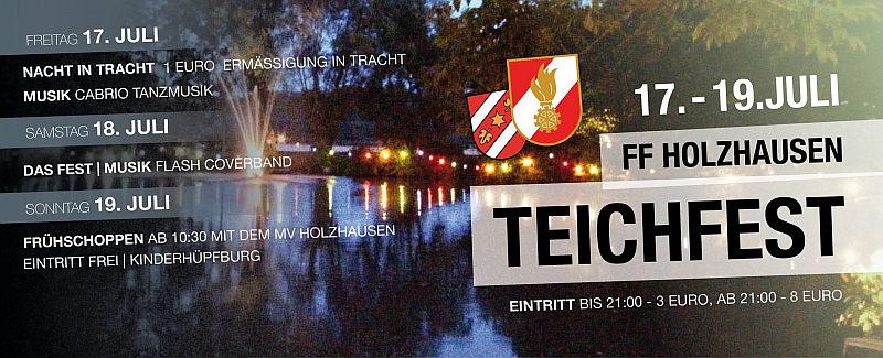 Kommenden Samstag steht das Teichfest in Holzhausen am Programm