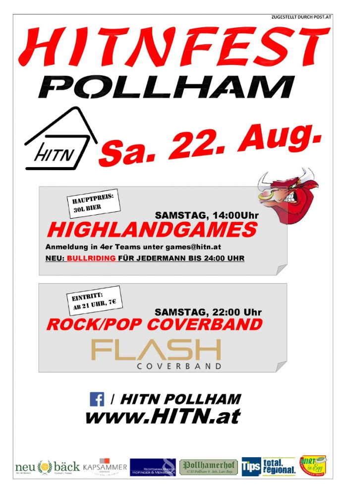 Am Samstag: Flash live am Hitnfest in Pollham