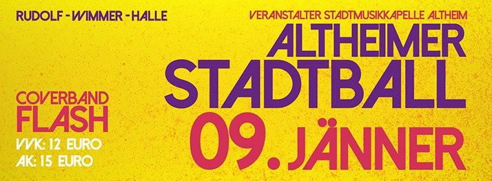 Nächster Auftritt: Samstag 9.1.2016: Stadtball Altheim mit Flash