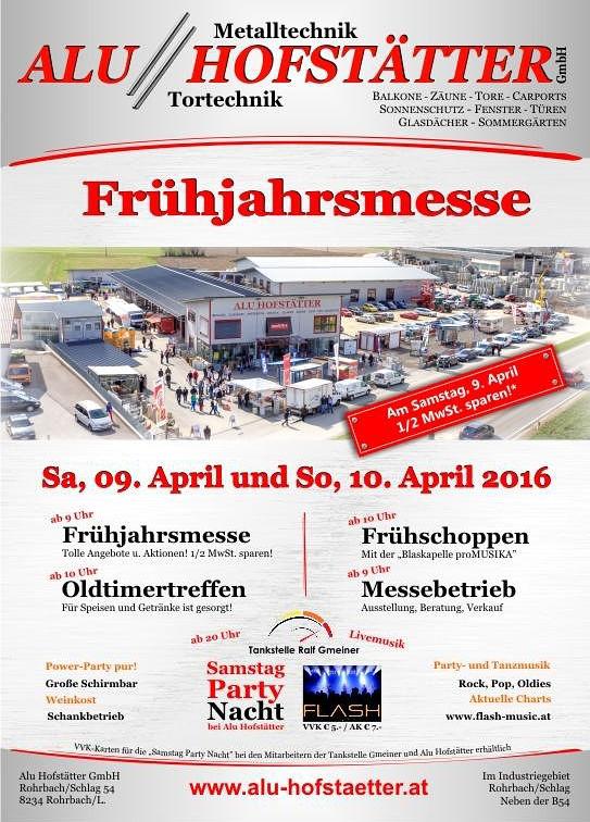 Samstag 9.4.2016: Firmen-/Partyevent bei Alu Hofstätter in Rohrbach an der Lafnitz