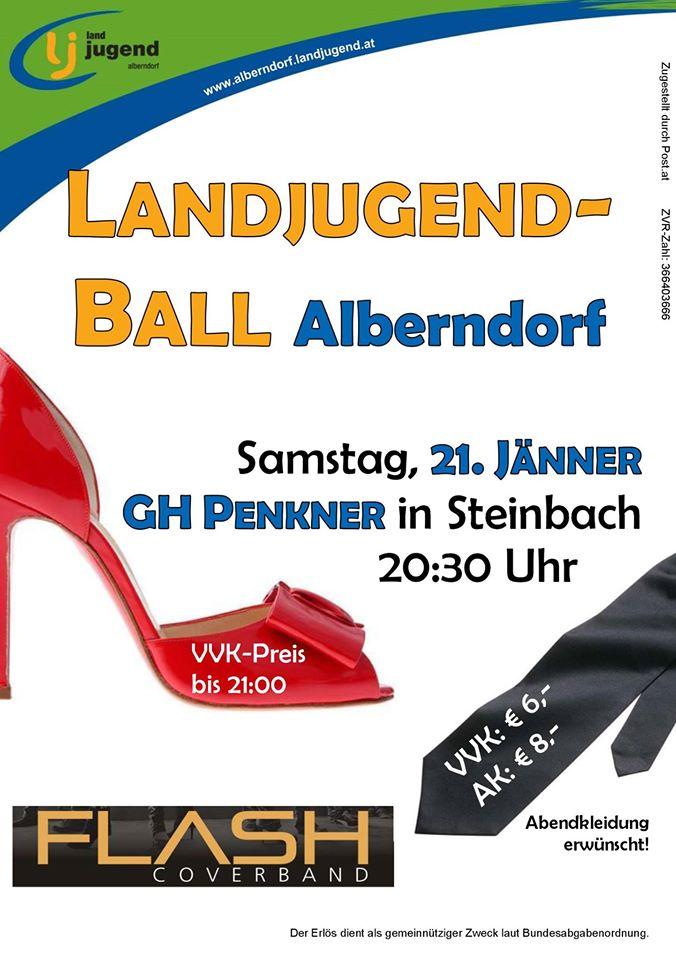 Nächsten Samstag: Flash live am Ball der Landjugend Alberndorf in der Riedmark