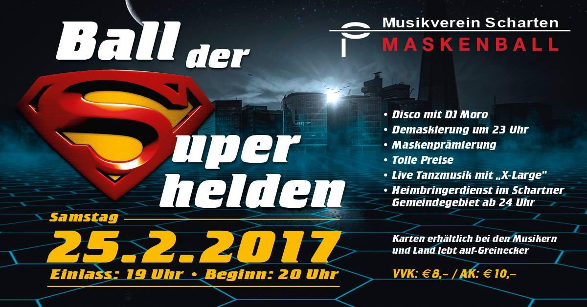 Am Faschingssamstag: Flash live am Ball der Superhelden in Scharten