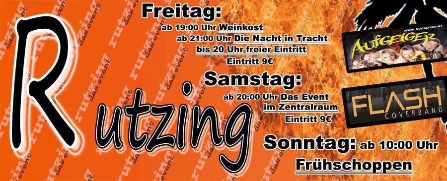 Kommenden Samstag: Flash live @ Zeltfest Rutzing