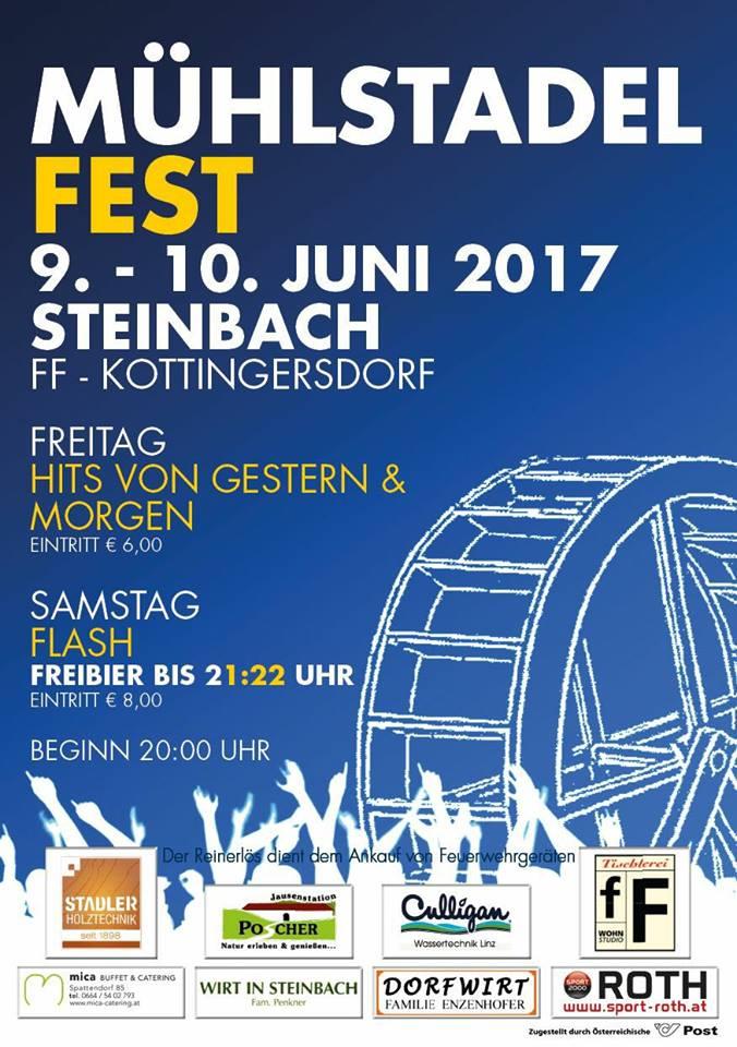 Nächsten Samstag: Flash live beim Mühlstadelfest in Steinbach