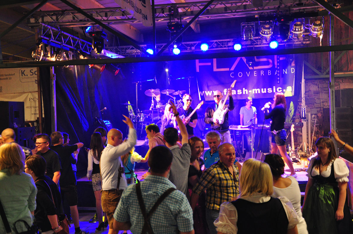Partyband Flash am Steinbruchfest Eggenstein