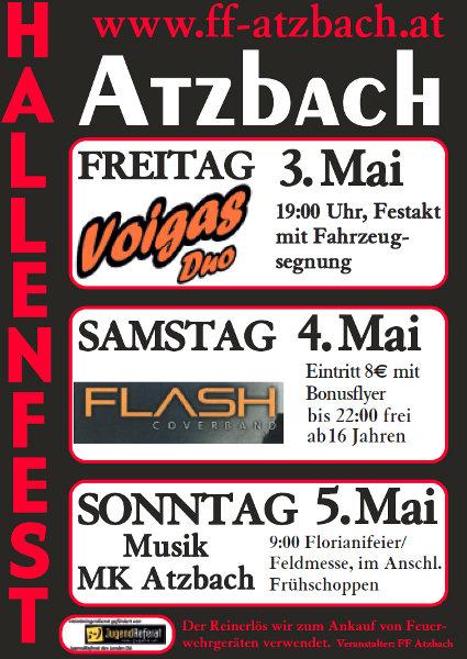 Flyer Hallenfest Atzbach 2013