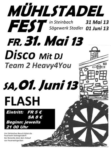Flyer Mühlstadelfest Steinbach