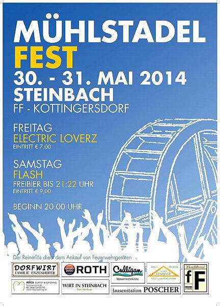 Flyer Mühlstadelfest Steinbach 2014