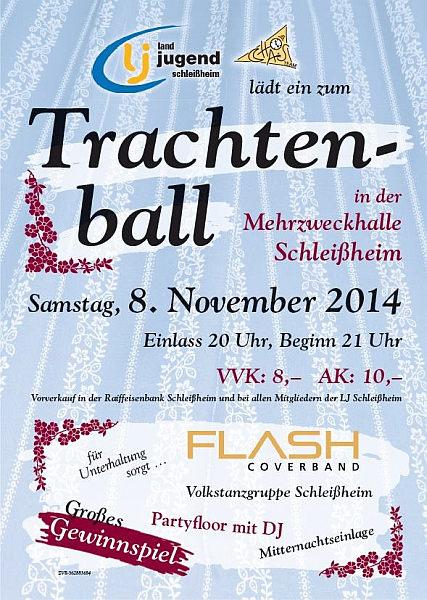 Flyer Trachtenball Schleißheim 2014