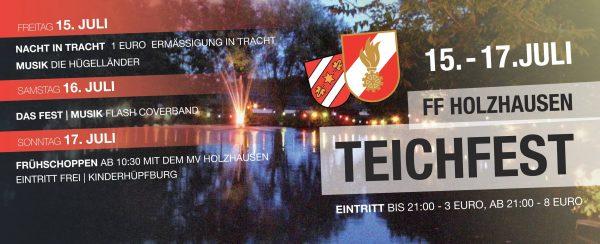 Diesen Samstag: Flash live @ Teichfest Holzhausen