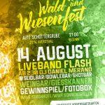 Am Mittwoch: Flash live am Wald- und Wiesenfest Auersthal